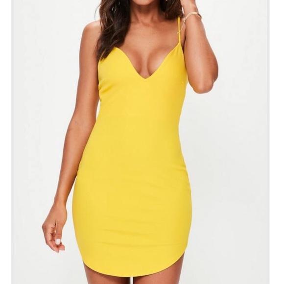 Yellow Strappy Mini Dress